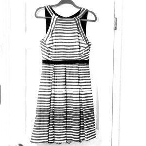 EVA FRANCO Saybrook Stripe Dress Fit & Flare